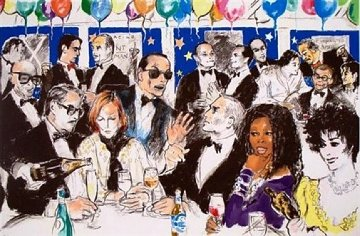 Celebrity Night At Spago AP 1993 Limited Edition Print by LeRoy Neiman