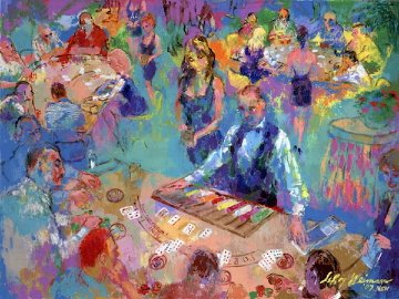 High Stakes Blackjack - Vegas 2008 Limited Edition Print by LeRoy Neiman