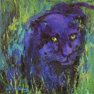 Portrait of the Black Panther 2004 Limited Edition Print by LeRoy Neiman