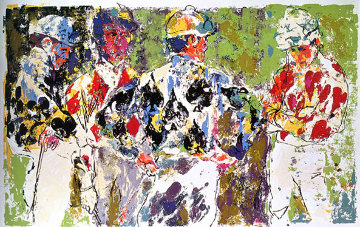 Four Jockeys 1974 Limited Edition Print by LeRoy Neiman