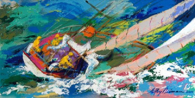 Yawl Sailing AP 2001 Limited Edition Print by LeRoy Neiman
