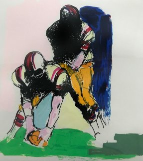Untitled Football 1974 Limited Edition Print - LeRoy Neiman