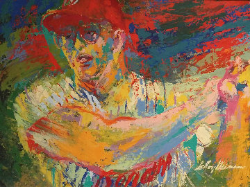 Above RFK Stadium, Frank Howard Washington Senators 1970 31x42 Original Painting - LeRoy Neiman