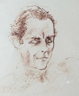 Untitled Drawing (Portrait of Jerome Zeitman) 1979 11x14 Drawing - LeRoy Neiman