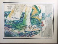 America's Cup Australia AP 1986 Limited Edition Print by LeRoy Neiman - 2