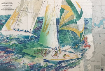 America's Cup Australia AP 1986 Limited Edition Print - LeRoy Neiman