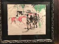 Hialeah Racetrack in Florida Mixed Media 1959 29x27 Works on Paper (not prints) by LeRoy Neiman - 1