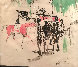Hialeah Racetrack in Florida Mixed Media 1959 29x27 Works on Paper (not prints) by LeRoy Neiman - 3