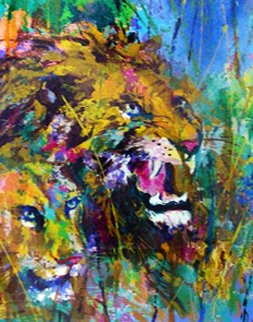 Lions 1997 Limited Edition Print - LeRoy Neiman