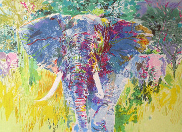 Bull Elephant 1997 Limited Edition Print by LeRoy Neiman