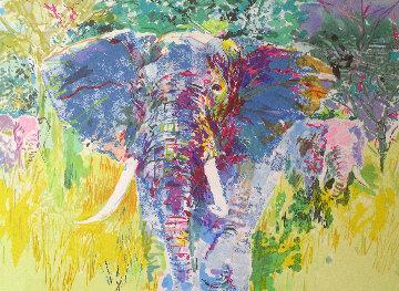 Bull Elephant 1997 Limited Edition Print by LeRoy Neiman