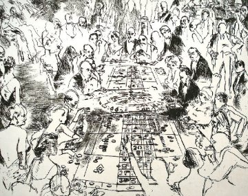 Eaux Fortes: Game of Life (Black And White) #1 of 250 Limited Edition Print - LeRoy Neiman