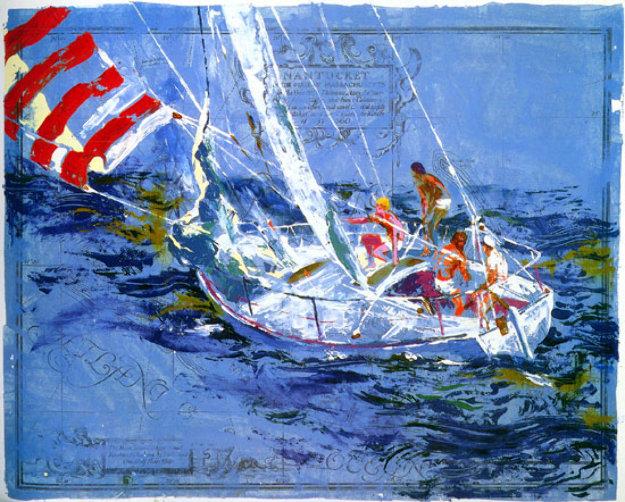 Nantucket Sailing 1980 By Leroy Neiman