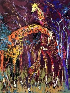 Giraffe Family 1974 Limited Edition Print by LeRoy Neiman