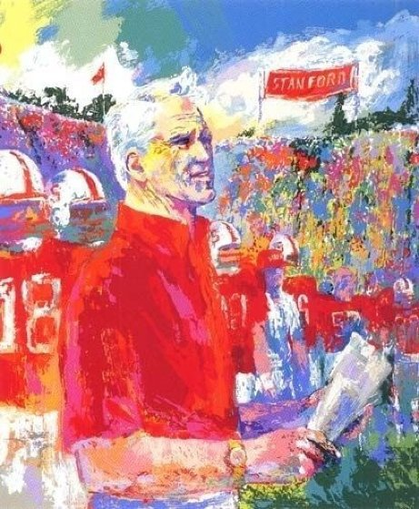 Coach Bill Walsh AP Limited Edition Print by LeRoy Neiman