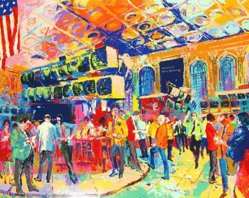 American Stock Exchange 1986 Limited Edition Print - LeRoy Neiman