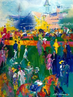 Derby Day Paddock 1997 Limited Edition Print by LeRoy Neiman