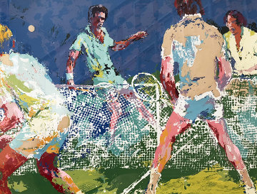 Men's Doubles AP 1974 Limited Edition Print by LeRoy Neiman