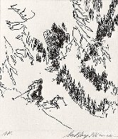 Ski Etchings, Set of Five  AP Limited Edition Print by LeRoy Neiman - 0