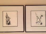 Ski Etchings, Set of Five  AP Limited Edition Print by LeRoy Neiman - 6