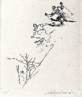 Ski Etchings, Set of Five  AP Limited Edition Print by LeRoy Neiman - 3