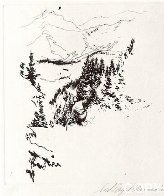 Ski Etchings, Set of Five  AP Limited Edition Print by LeRoy Neiman - 1