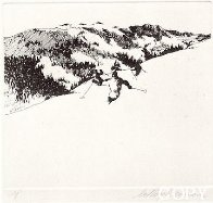 Ski Etchings, Set of Five  AP Limited Edition Print by LeRoy Neiman - 2