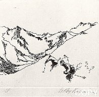 Ski Etchings, Set of Five  AP Limited Edition Print by LeRoy Neiman - 4