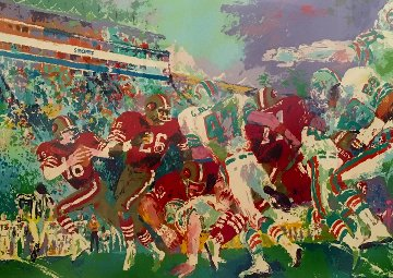 Post Season Football 1980 Limited Edition Print - LeRoy Neiman