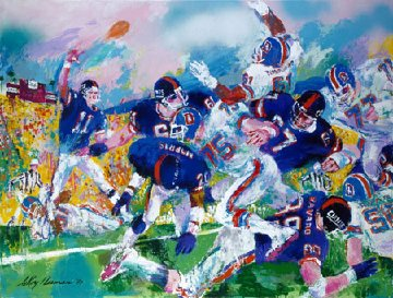 Giants - Bronco Classic 1987 Limited Edition Print by LeRoy Neiman