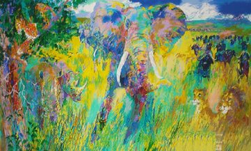Big Five 2001 AP Limited Edition Print by LeRoy Neiman