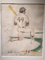 Reggie Jackson 1977 21x17 Works on Paper (not prints) by LeRoy Neiman - 1