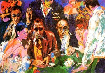 Vegas Blackjack 1977 Limited Edition Print by LeRoy Neiman