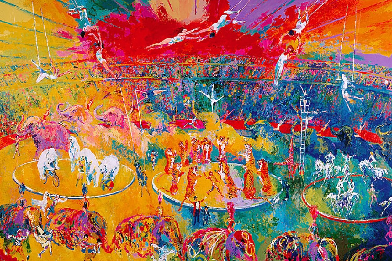 Circus 2001  Super Huge Limited Edition Print by LeRoy Neiman