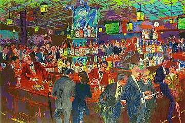 Harry's Wall Street Bar 1985 Limited Edition Print by LeRoy Neiman
