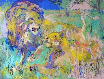 Lion Couple 1981 Limited Edition Print - LeRoy Neiman