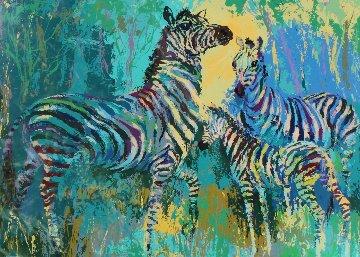 Zebra Family 1978 Limited Edition Print by LeRoy Neiman