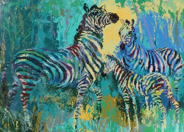 Zebra Family 1978 Limited Edition Print - LeRoy Neiman