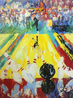 Million Dollar Strike HS by 2 Pro Bowlers 1982 Limited Edition Print by LeRoy Neiman