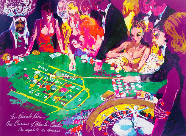 Salle Prive - Monte Carlo 1988 Limited Edition Print by LeRoy Neiman