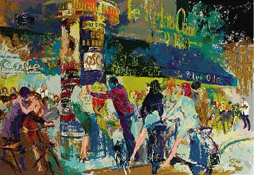 Left Bank Cafe 1989 Limited Edition Print by LeRoy Neiman