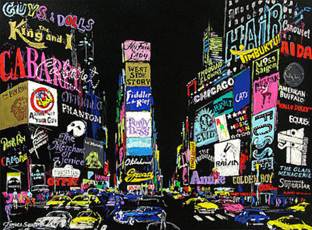 Lights on Broadway 2001 Limited Edition Print by LeRoy Neiman