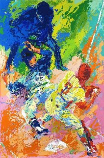 Sliding Home 1972 Limited Edition Print - LeRoy Neiman