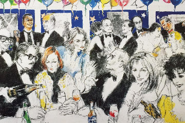 Celebrity Night At Spago 1993 Limited Edition Print by LeRoy Neiman