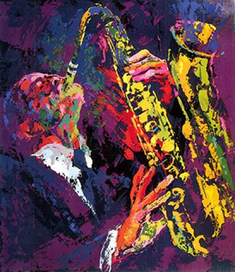 Saxman 1975 Limited Edition Print by LeRoy Neiman