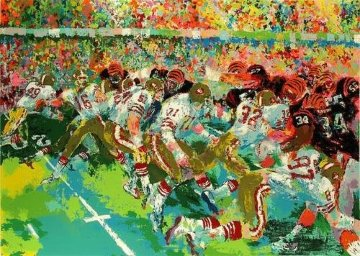 Silverdome Superbowl 1982 Limited Edition Print - LeRoy Neiman