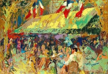 Cafe Deux Magots 1976 Limited Edition Print by LeRoy Neiman