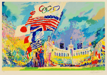 Opening Ceremonies XXIII #1 in the Edition 1984 28x42 Super Huge  Limited Edition Print - LeRoy Neiman
