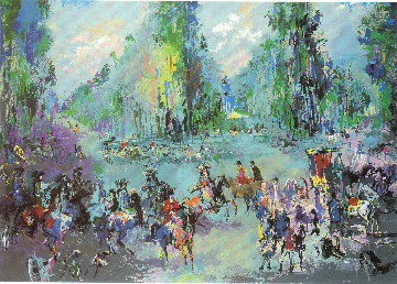 Hunt Rendezvous (Homage to Oudry) 1992 29x40 Super Huge  Limited Edition Print - LeRoy Neiman