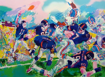 Giants Broncos Classic 1987 Limited Edition Print - LeRoy Neiman